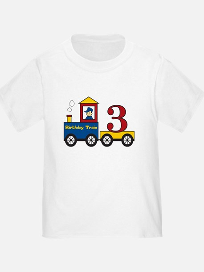 3 Year Old Birthday Train T