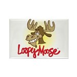 Loopy Moose Rectangle Magnet (10 pack)