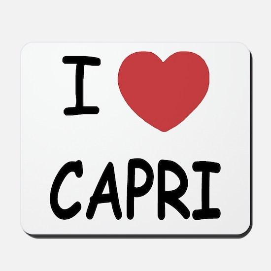 I heart capri Mousepad