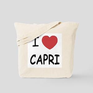 I heart capri Tote Bag
