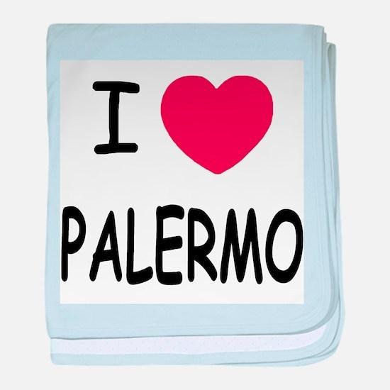 I heart palermo baby blanket