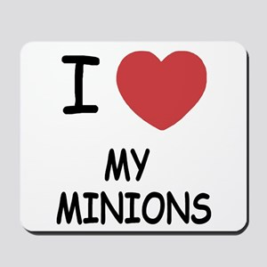 I heart my minions Mousepad
