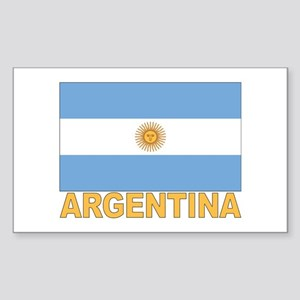Argentina Flag Rectangle Sticker