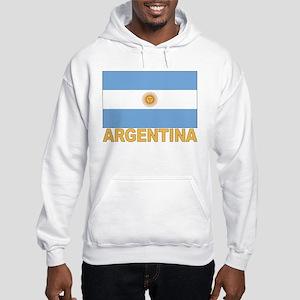 Argentina Flag Hooded Sweatshirt