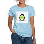 Geek penguin Women's Pink T-Shirt