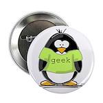 Geek penguin Button