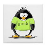Geek penguin Tile Coaster