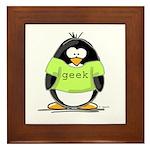 Geek penguin Framed Tile