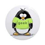 Geek penguin Ornament (Round)