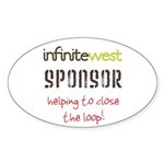 Infinite West Sticker (Oval 10 pk)