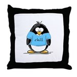 Chill penguin Throw Pillow