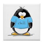 Chill penguin Tile Coaster