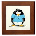 Chill penguin Framed Tile