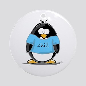 Chill penguin Ornament (Round)