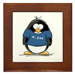 Best Dad penguin Framed Tile