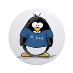 Best Dad penguin Ornament (Round)