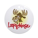 Loopy Moose Ornament w/ Ribbon