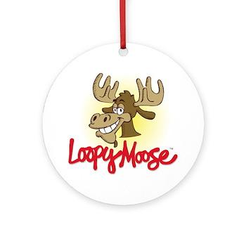Loopy Moose Ornament w/ Ribbon