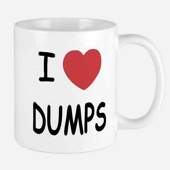 I heart dumps Mug
