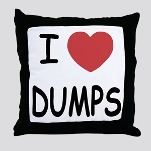 I heart dumps Throw Pillow