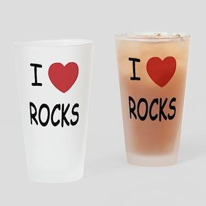 I heart rocks Drinking Glass
