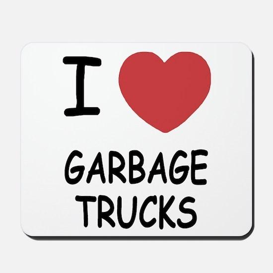 I heart garbage trucks Mousepad