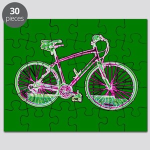 Green Cycling Bike Artistic Mind Games Toy Puzzle