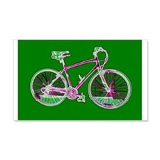 Cycling Crazy Green Bicycle 22x14 Wall Peel Decal