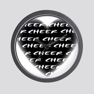 Cheer black heart Wall Clock