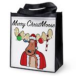 Merry Christmoose - Reusable Grocery Tote Bag