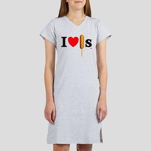 Women's I love Corn Dogs Women's Nightshirt