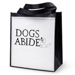Dogs Abide Reusable Grocery Tote Bag