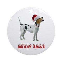 Foxhound Christmas Ornament (Round)
