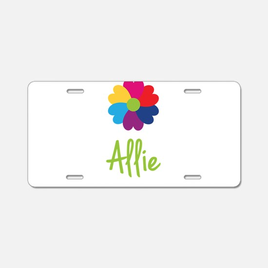 Allie Valentine Flower Aluminum License Plate
