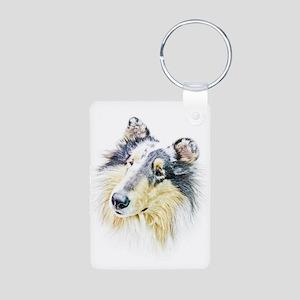COLLIE - DOG Aluminum Photo Keychain