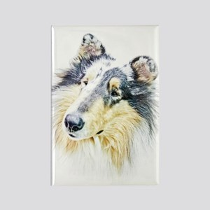 COLLIE - DOG Rectangle Magnet
