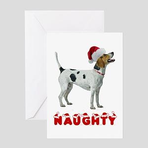 Naughty Foxhound Greeting Card