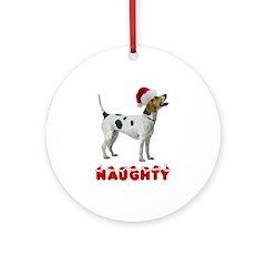 Naughty Foxhound Ornament (Round)