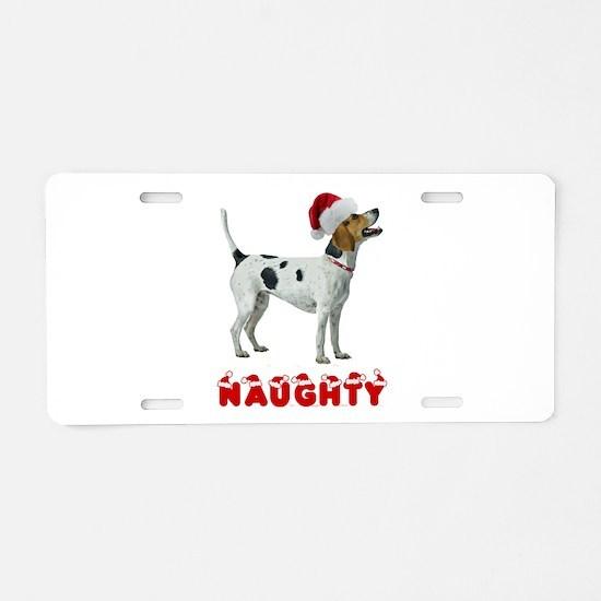 Naughty Foxhound Aluminum License Plate