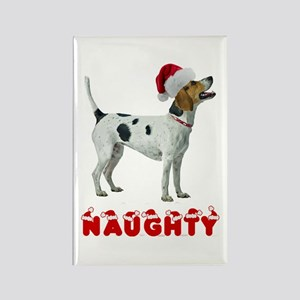 Naughty Foxhound Rectangle Magnet
