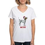 Nice Foxhound Women's V-Neck T-Shirt