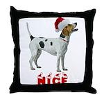 Nice Foxhound Throw Pillow