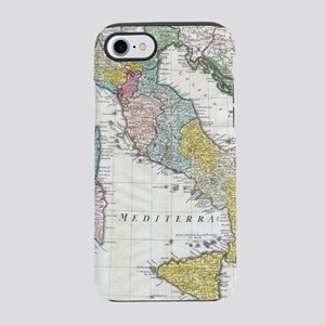 Vintage Map of Italy (1742) iPhone 7 Tough Case