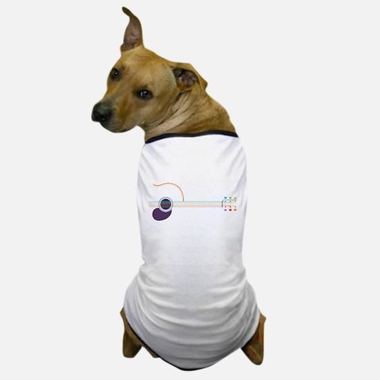 Neon Guitar Dog T-Shirt