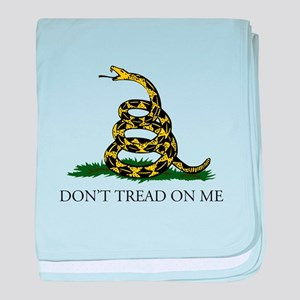 Don't Tread On Me Snake baby blanket