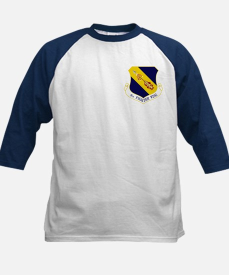 4th Fighter Wing Kids Baseball Jersey