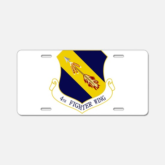 4th Fighter Wing Aluminum License Plate