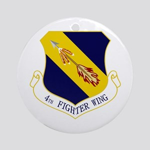 4th Fighter Wing Ornament (Round)
