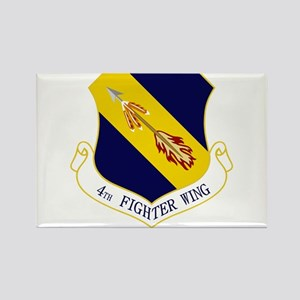 4th Fighter Wing Rectangle Magnet