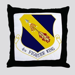 4th Fighter Wing Throw Pillow